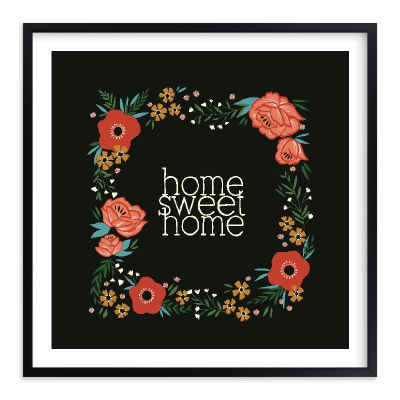 """""""Home Sweet Home"""" - Limited Edition Art Print by Melissa Kelman in beautiful frame options and a variety of sizes."""