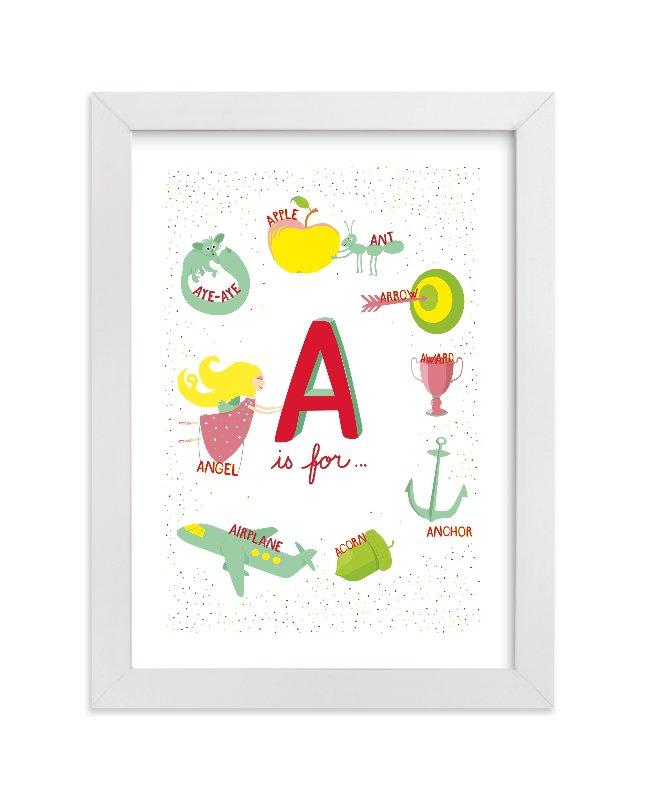 """""""A is For"""" - Limited Edition Art Print by Tereza Šašinková Lukášová in beautiful frame options and a variety of sizes."""