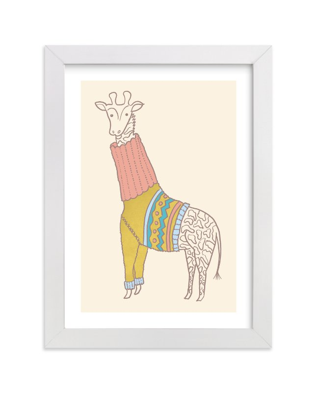 """Fiesta Turtleneck"" - Limited Edition Art Print by Moglea in beautiful frame options and a variety of sizes."
