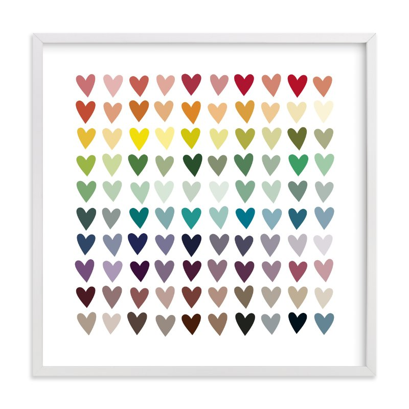 """""""Paper Hearts"""" - Limited Edition Art Print by InkDot in beautiful frame options and a variety of sizes."""
