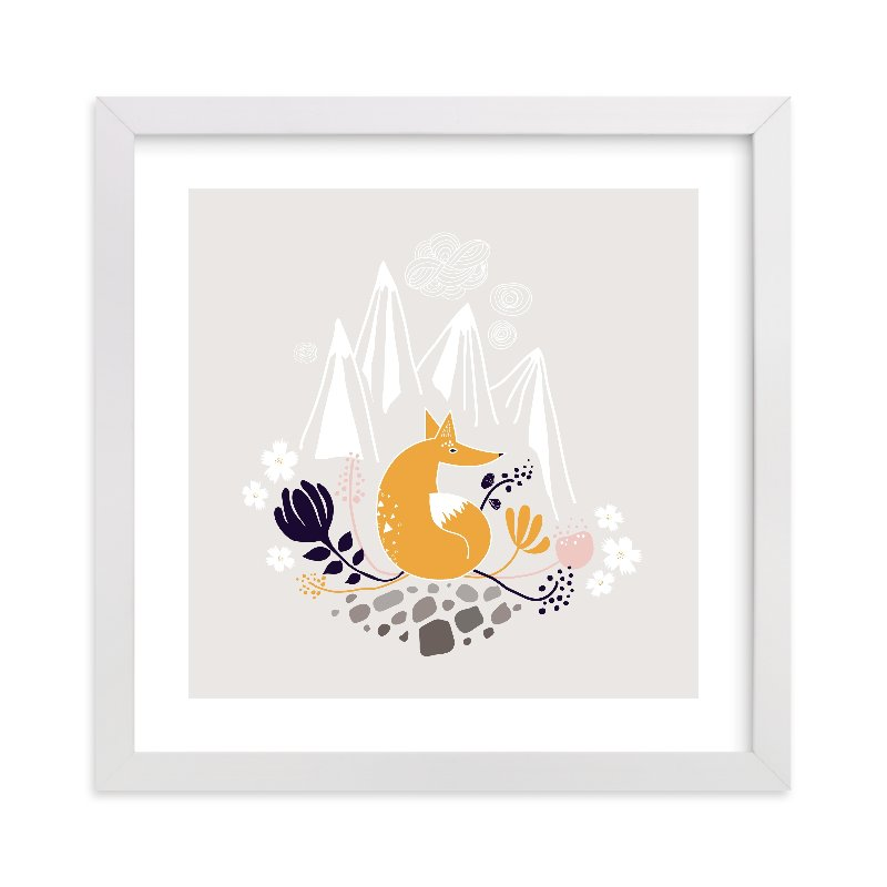"""""""Desert Fox"""" - Limited Edition Art Print by Kayla King in beautiful frame options and a variety of sizes."""