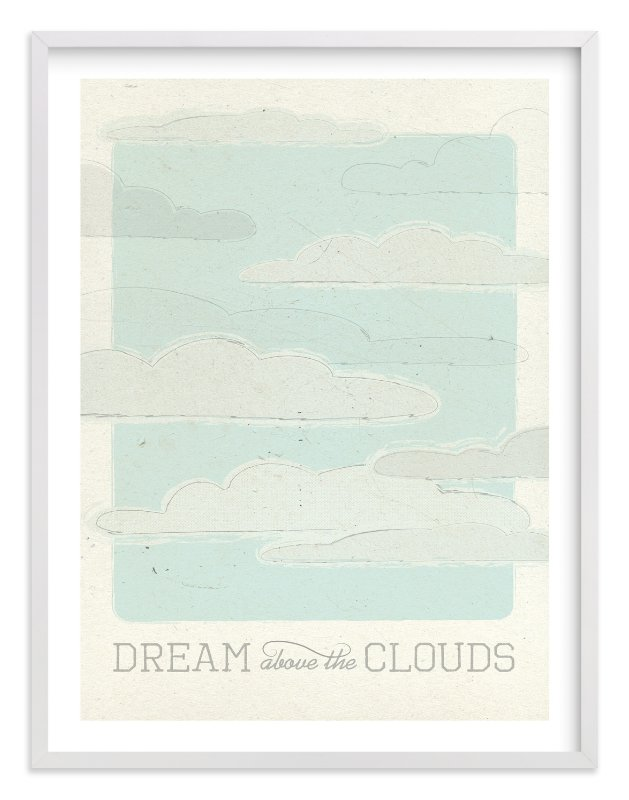"""Above the Clouds"" - Limited Edition Art Print by Bleu Collar Paperie in beautiful frame options and a variety of sizes."