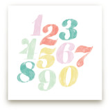 Numerals by Anchored Paper Co.