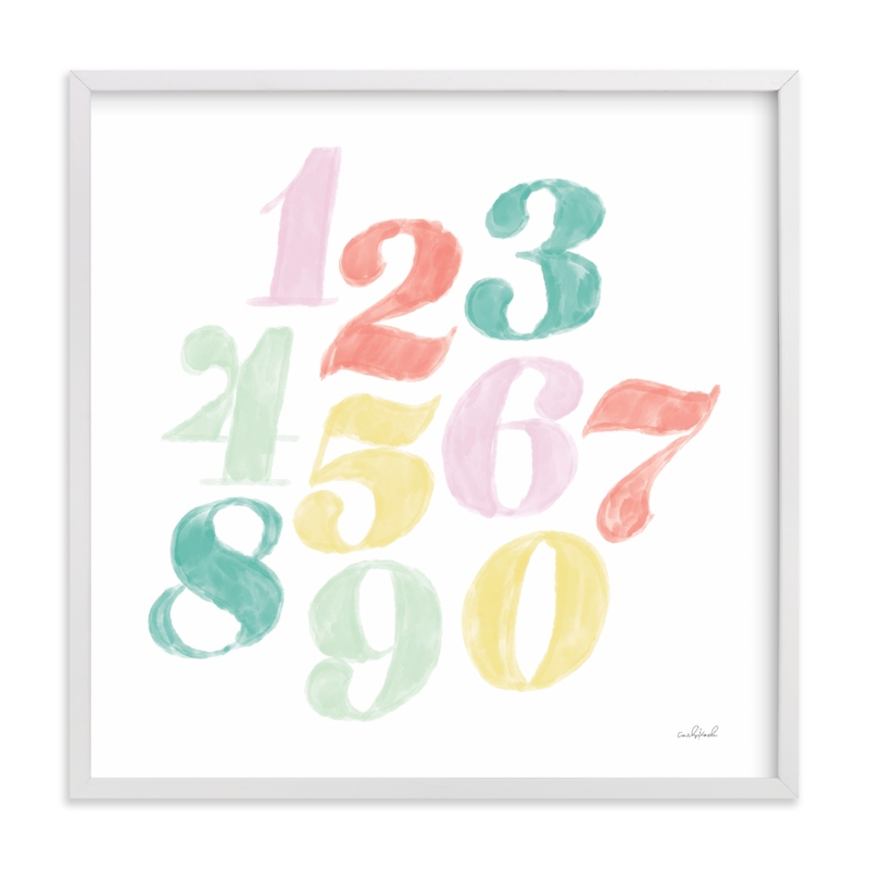 """Numerals"" - Limited Edition Art Print by Anchored Paper Co. in beautiful frame options and a variety of sizes."