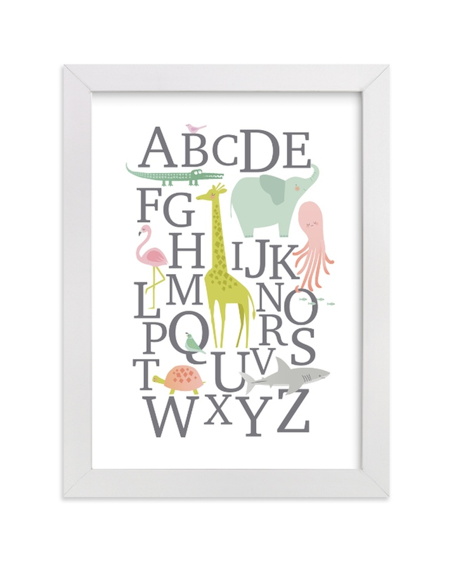 """""""Alphabet Animals"""" - Limited Edition Art Print by Karidy Walker in beautiful frame options and a variety of sizes."""
