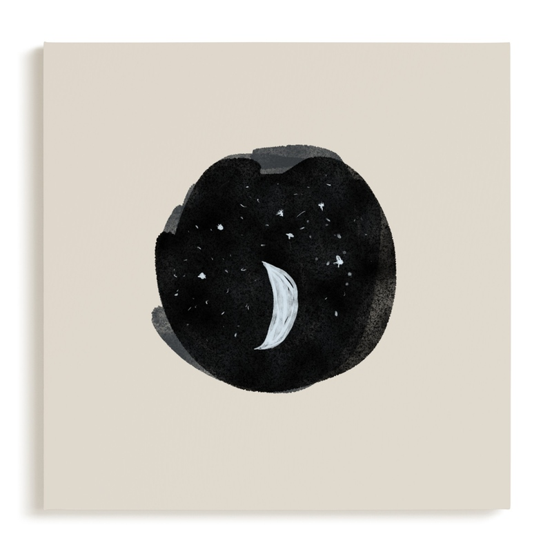 Little Moon Nursery Art Print