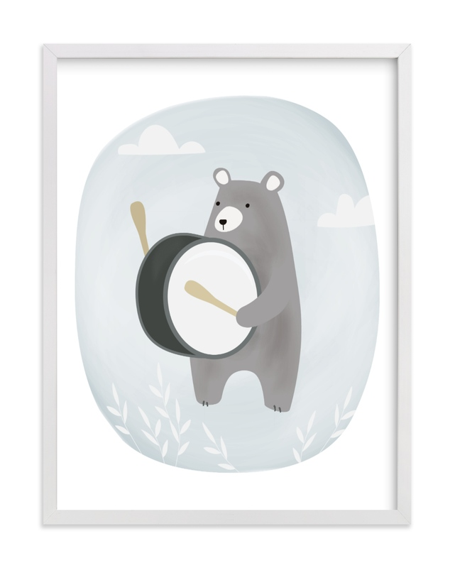 """drummer bear"" - Limited Edition Art Print by Faith Dorn in beautiful frame options and a variety of sizes."