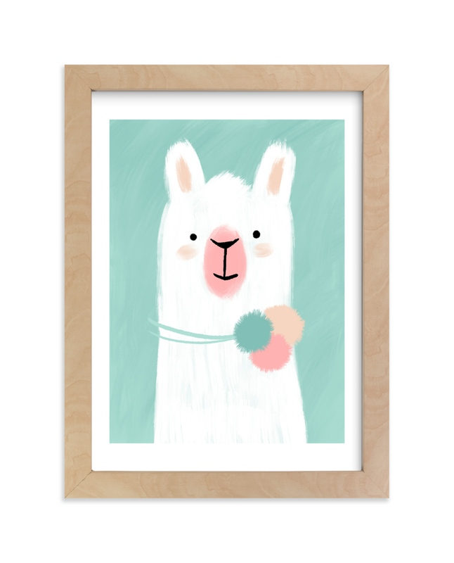 """Little Llama"" - Limited Edition Art Print by iamtanya in beautiful frame options and a variety of sizes."