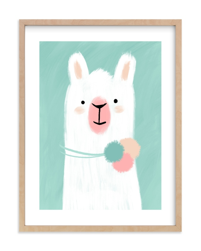 """""""Little Llama"""" - Limited Edition Art Print by iamtanya in beautiful frame options and a variety of sizes."""