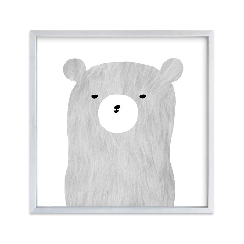 """furry bear"" - Limited Edition Art Print by Susanne Kasielke in beautiful frame options and a variety of sizes."