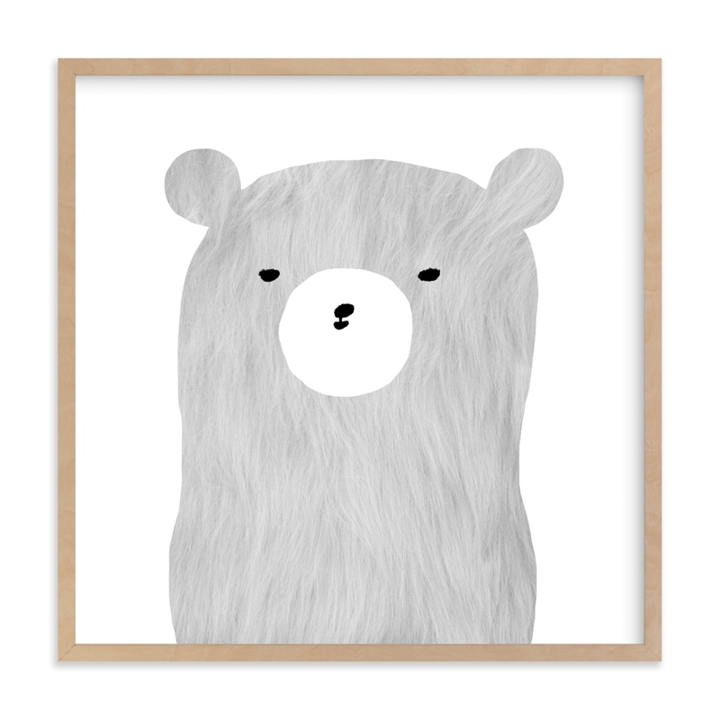 furry bear Nursery Art Print