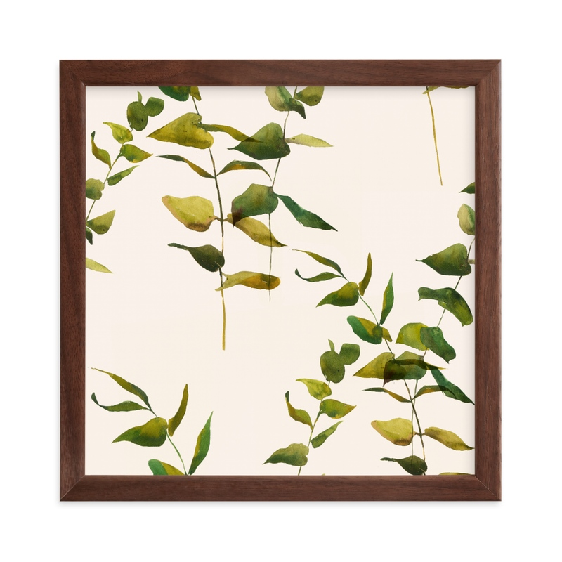 """Embrace Greenery"" - Limited Edition Art Print by jinseikou in beautiful frame options and a variety of sizes."