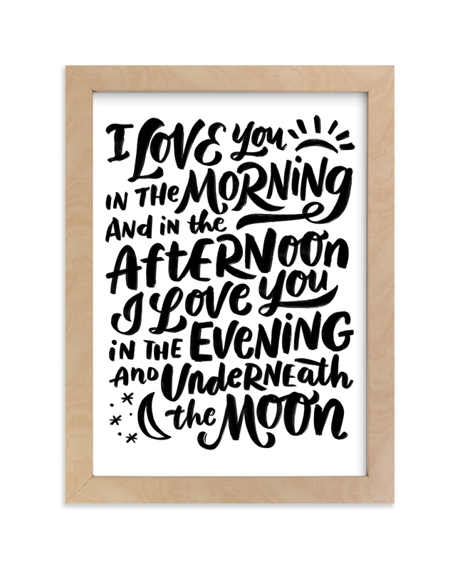 """I love you in the morning"" - Limited Edition Art Print by Laura Bolter Design in beautiful frame options and a variety of sizes."