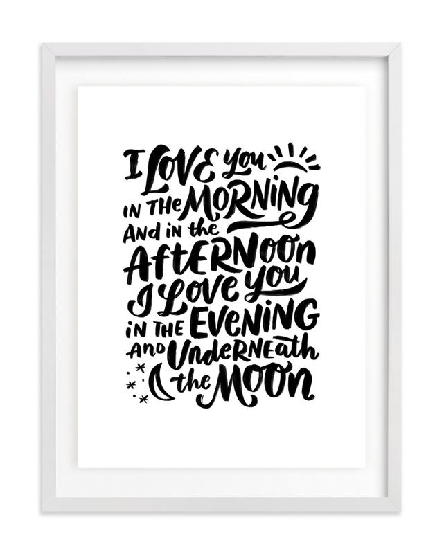 I love you in the morning Nursery Art Print