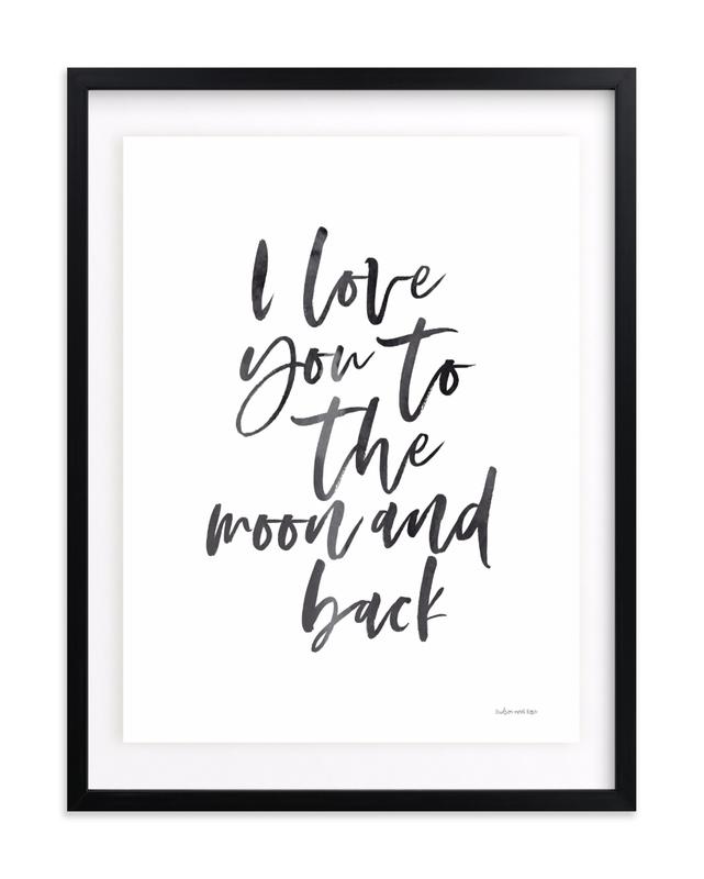 I love you to the moon and back Nursery Art Print