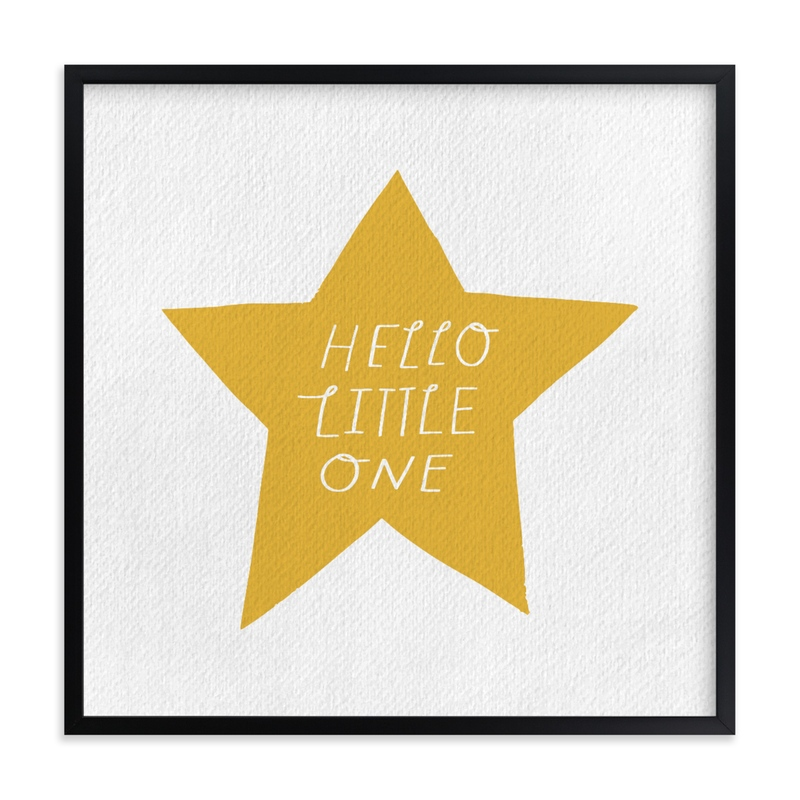 """Hello Little One"" - Limited Edition Art Print by Little Miss Missy in beautiful frame options and a variety of sizes."