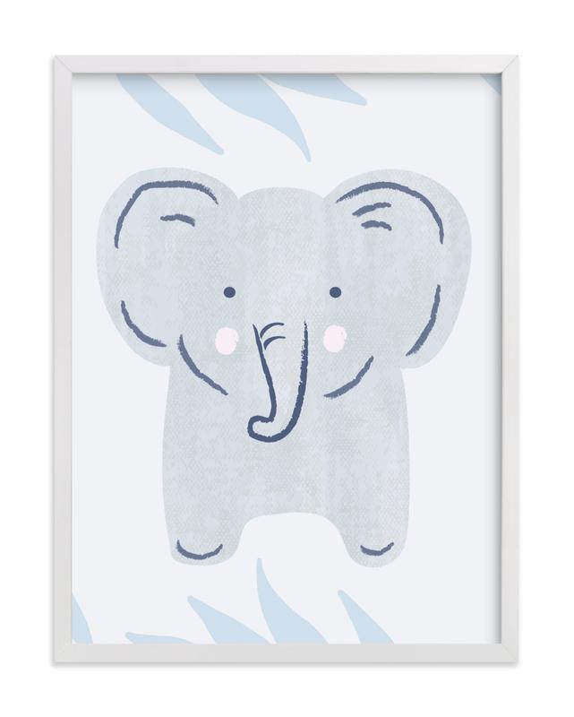 Elephant Portrait Nursery Art Print