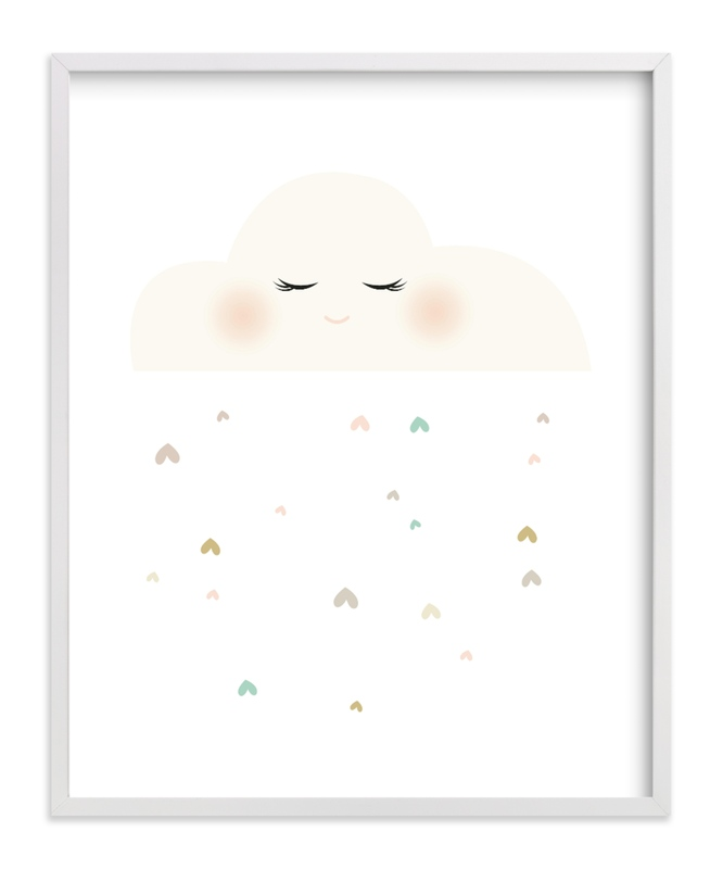 """Miss Cloud"" - Limited Edition Art Print by fatfatin in beautiful frame options and a variety of sizes."