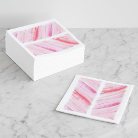 This is a pink decorative paper napkin by Loree Mayer called Pretty in Pink!.