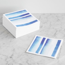 This is a blue decorative paper napkin by kelli hall called Cool Cobalt.