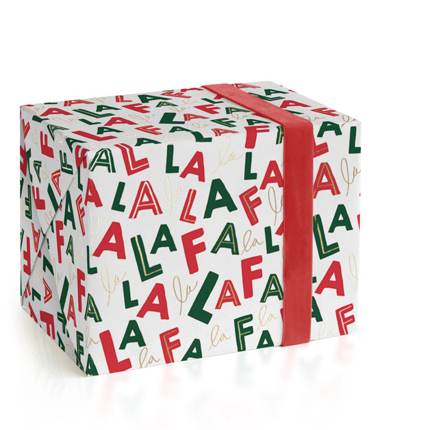 This is a green wrapping paper by Baumbirdy called Falala.