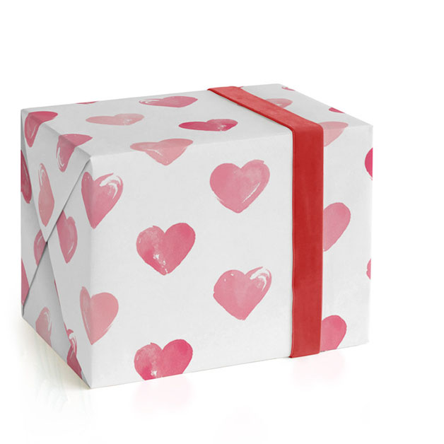 This is a pink wrapping paper by Liz Conley called Heartfully Painted.