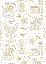 Country Nativity Wrapping Paper