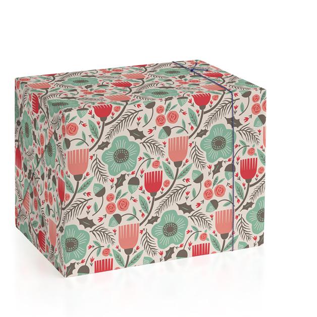 Yule Botanical Wrapping Paper