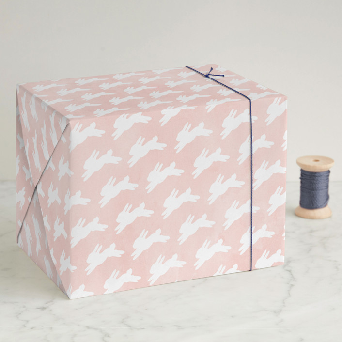 Running Bunnies Wrapping Paper