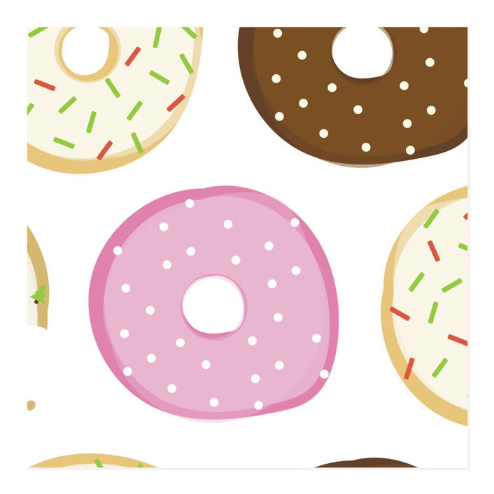 Donut Open 'Til Christmas Wrapping Paper