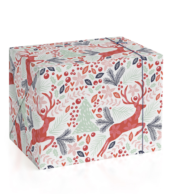 Jumping Reindeer Wrapping Paper