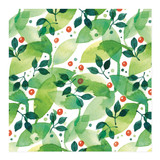 Berries & Leaves by Four Wet Feet Studio