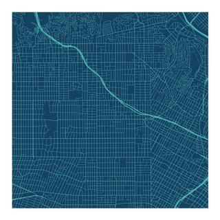 LA Road Wrap Wrapping Paper