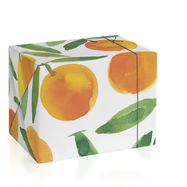This is a orange wrapping paper by Alexandra Dzh called Sweet oranges.