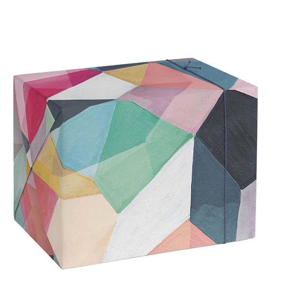 This is a colorful wrapping paper by Hooray Creative called Kaleidoscope No.1.