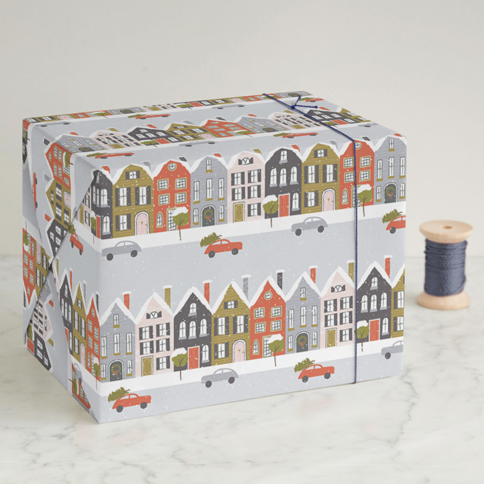 Christmastime in the City Wrapping Paper