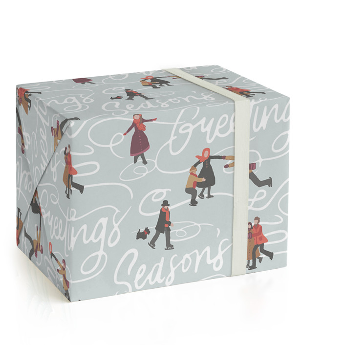 Winter Skate Wrapping Paper