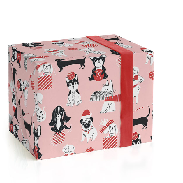 Christmas Dogs Wrapping Paper