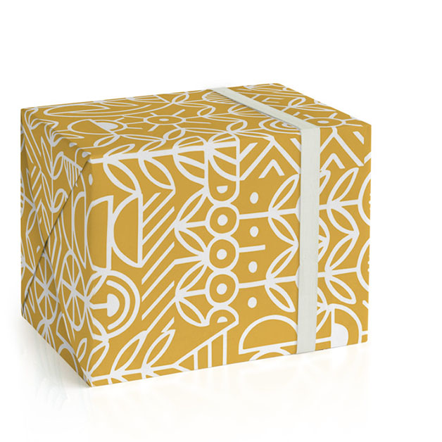 This is a white wrapping paper by Michelle Taylor called Deconstruct.