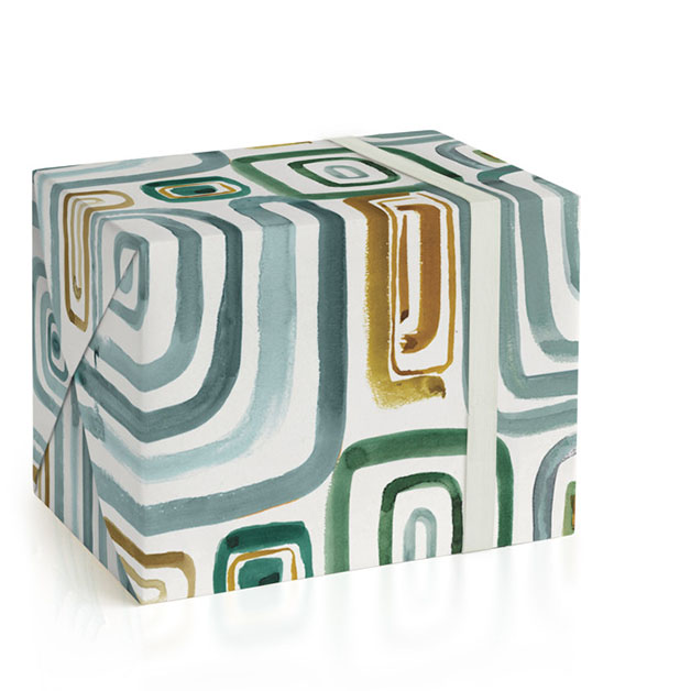 This is a brown wrapping paper by Bethania Lima called Geo gym.