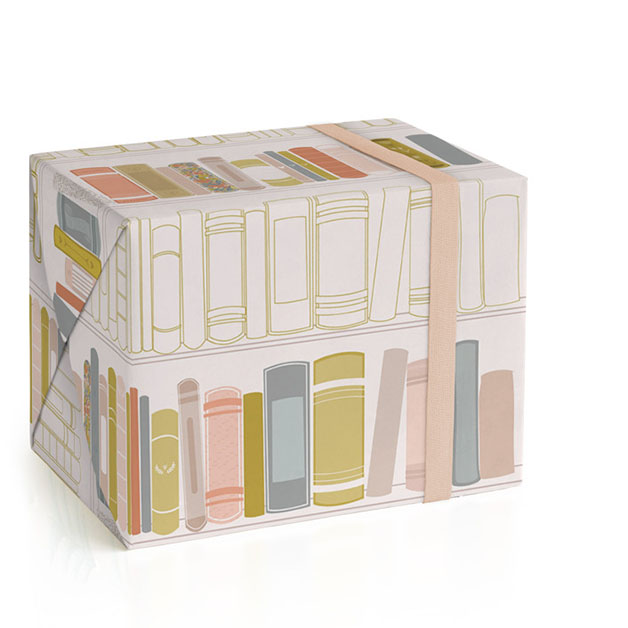 This is a ivory wrapping paper by Three Sugars Creative called So Many Stories.