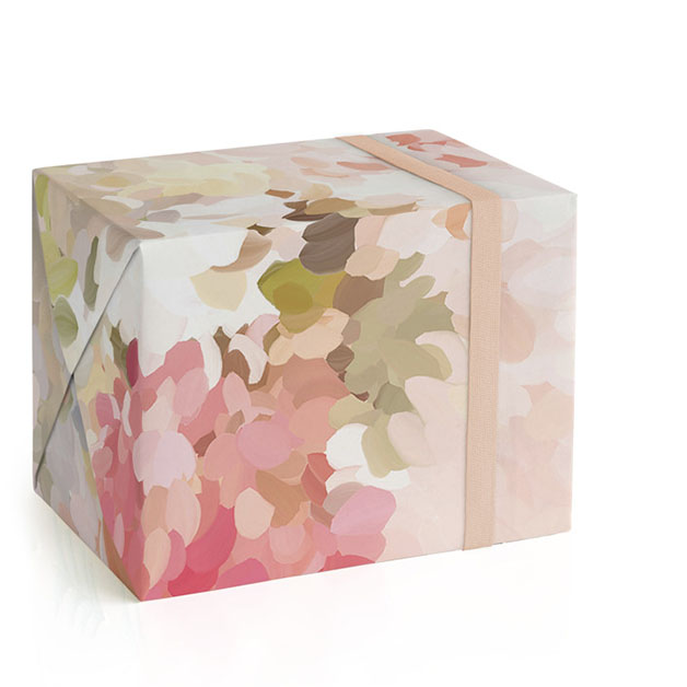 This is a colorful wrapping paper by Amy Hall called Spring Bloom 3.