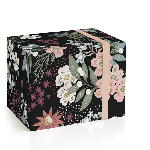 This is a colorful wrapping paper by Alethea and Ruth called Wildflower Scatter.
