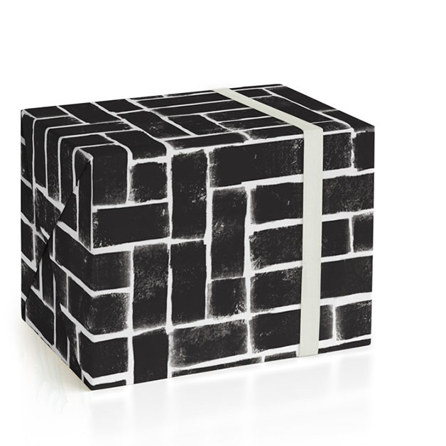This is a black and white wrapping paper by Michelle Taylor called Constructed.