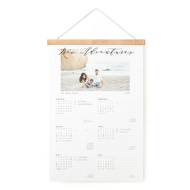 This is a black hanging bar calendar by Leah Bisch called Simplicity with standard printing on signature in one-page calendar.