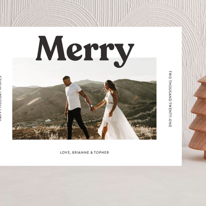 """""""Merry Color Overlay"""" - Grand Holiday Cards in Snowflake by Chryssi Tsoupanarias."""