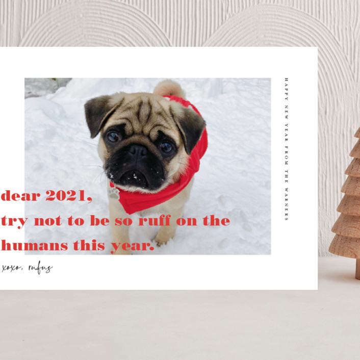"""""""dear 2021"""" - Grand Holiday Cards in Cranberry by Frooted Design."""