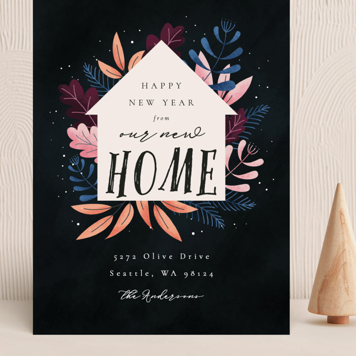 """""""Whimsical New Home"""" - Grand Holiday Cards in Wonderland by Kann Orasie."""