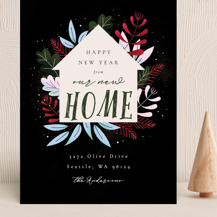 """Whimsical New Home"" - Grand Holiday Cards in Forest by Kann Orasie."