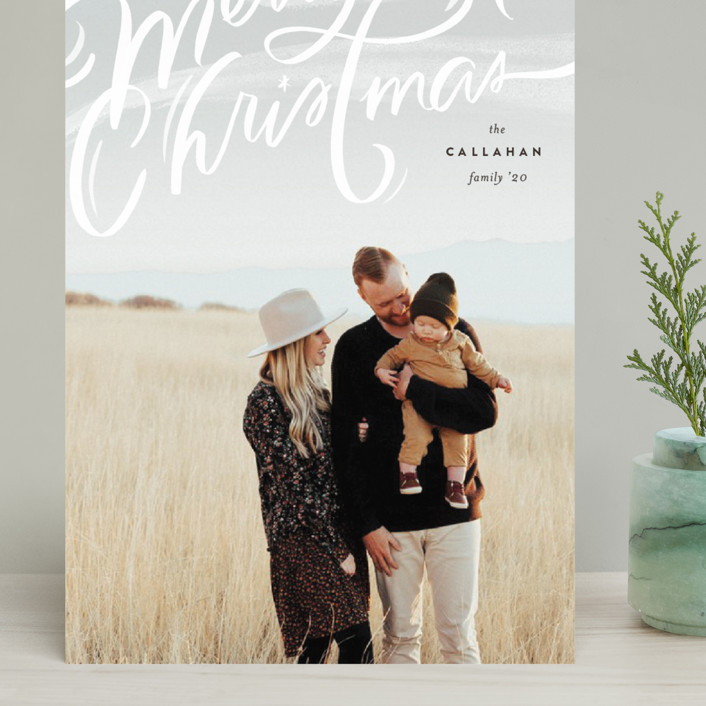 """""""Windswept"""" - Bohemian Grand Holiday Cards in Cocao by Julie Murray."""